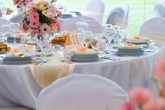 Комплект таблицы свадьбы Стоковое фото RF