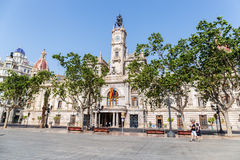 Здание муниципалитет Валенсии Стоковое фото RF