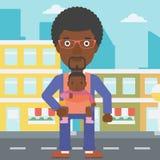 Отец нося его дочь в слинге Стоковая Фотография RF