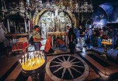 教会圣洁坟墓 免版税图库摄影