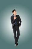 亚洲生意人年轻人 免版税图库摄影