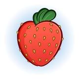 肥满水多的草莓动画片例证 库存照片