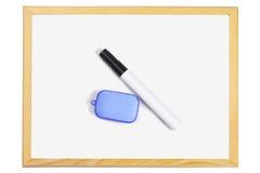 Черные ручка и ластик отметки Стоковое Фото