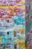 巴塞罗那大厦墙壁背景 库存照片
