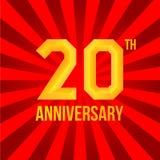 Яркий плакат годовщины Стоковое фото RF