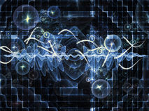Виртуальные волны синуса Стоковое Изображение RF