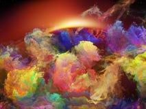 Света межзвёздного облака космоса Стоковые Фото
