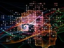 Зарево решетки цифров Стоковые Изображения RF