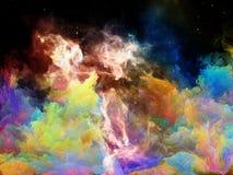 Схематическое межзвёздное облако космоса Стоковая Фотография