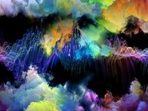 Выдвижение виртуальных облаков Стоковые Изображения
