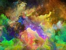 За межзвёздным облаком космоса Стоковая Фотография