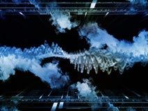 Виртуальные виртуальные облака Стоковое Изображение