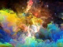 Эволюционируя межзвёздное облако космоса Стоковые Фото