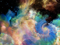 Танец межзвёздного облака космоса Стоковое фото RF