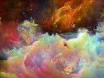 Появление межзвёздного облака космоса Стоковые Изображения