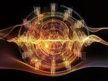Виртуализация центральной волны Стоковые Изображения RF