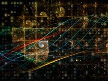 Зарево решетки цифров Стоковая Фотография