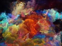 Иллюзия межзвёздного облака космоса Стоковые Изображения