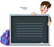 Иллюстрация мальчика девушки смотря прищурясь Стоковое Фото