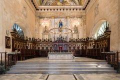 在哈瓦那大教堂的法坛在古巴 免版税库存图片