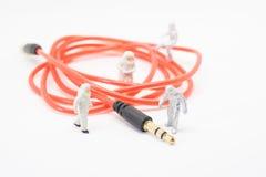 Βοηθητικό ακουστικό στερεοφωνικό σκοινί καλωδίων Στοκ εικόνες με δικαίωμα ελεύθερης χρήσης