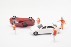 Σκηνή ατυχήματος τροχαίου ατυχήματος Στοκ φωτογραφία με δικαίωμα ελεύθερης χρήσης