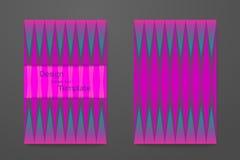 Комплект абстрактной элегантной картины для плана буклета Стоковые Фото