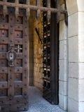 Ξύλινη πύλη ενός μεσαιωνικού κάστρου Στοκ Εικόνα