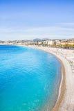 尼斯,法国海滨看法  库存照片