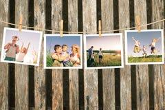 愉快的家庭拼贴画 库存照片