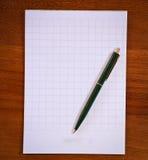 Тетрадь и ручка Стоковые Изображения RF