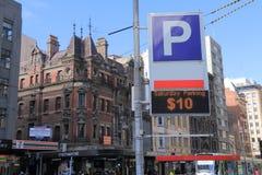 停放墨尔本澳大利亚的城市 图库摄影