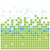 绿色正方形纹理 免版税库存图片