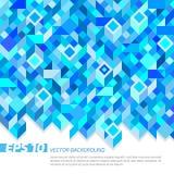 μπλε γεωμετρία Στοκ Εικόνες