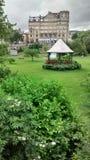在游行的美丽的景色在巴恩,英国从事园艺 免版税库存图片