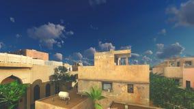 Παραδοσιακή αρχιτεκτονική στην αραβική πόλη απόθεμα βίντεο