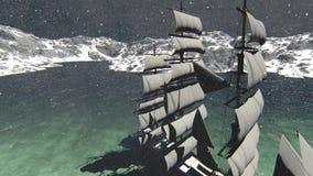 Ζωτικότητα σκαφών πειρατών απόθεμα βίντεο