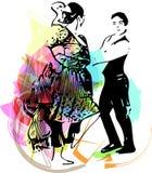 Иллюстрация танцев пар Стоковые Изображения RF