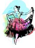 Иллюстрация танцев женщины Стоковое Изображение