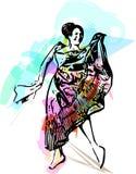 Иллюстрация танцев женщины Стоковая Фотография