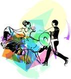 Иллюстрация танцев пар Стоковые Фото