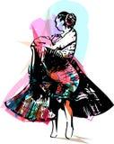 Иллюстрация танцев женщины Стоковые Фотографии RF