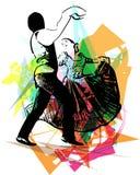 Иллюстрация танцев пар Стоковое Фото