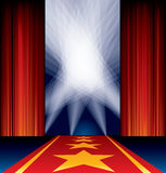 Αστέρια σημείων κόκκινου χαλιού Στοκ Εικόνες
