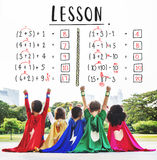 Έννοια διδασκαλίας υπολογισμού μαθηματικών εκπαίδευσης εκμάθησης Στοκ εικόνα με δικαίωμα ελεύθερης χρήσης
