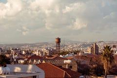 老市的屋顶的看法利马索尔 塞浦路斯 免版税库存图片