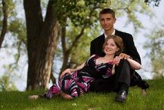 青少年的夫妇 免版税图库摄影