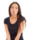 她的伸出的舌头 免版税库存图片