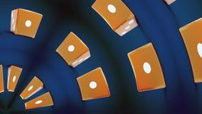 Το κόκκινο χωρίζει σε τετράγωνα με έξι αριθμό στην εστίαση απόθεμα βίντεο