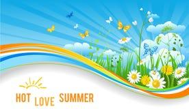 热的夏天横幅 免版税图库摄影